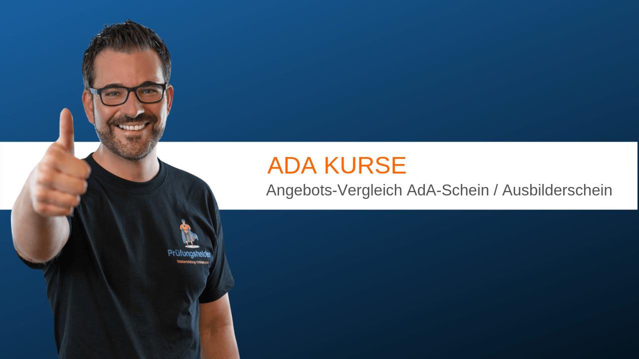AdA-Kurse - Welche Angebote gibt es? Hier ein Vergleich für Dich.