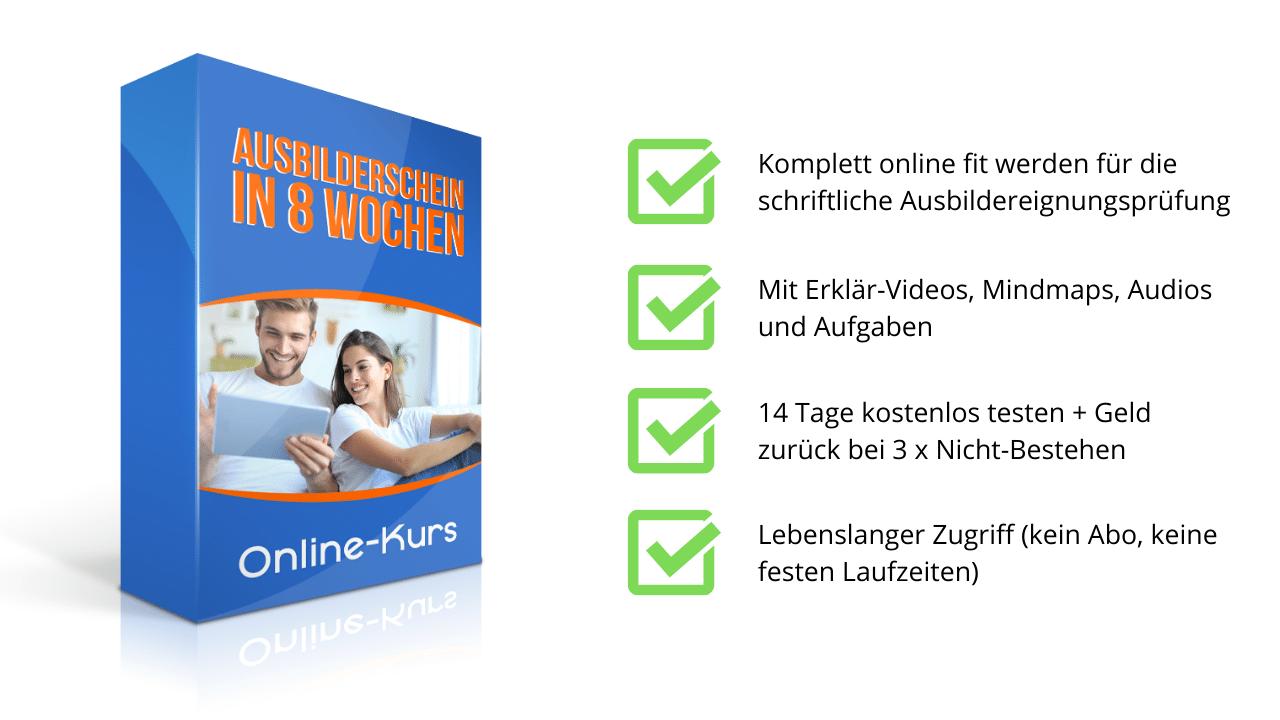Online-Kurs Ausbilderschein in 8 Wochen - Prüfungshelden